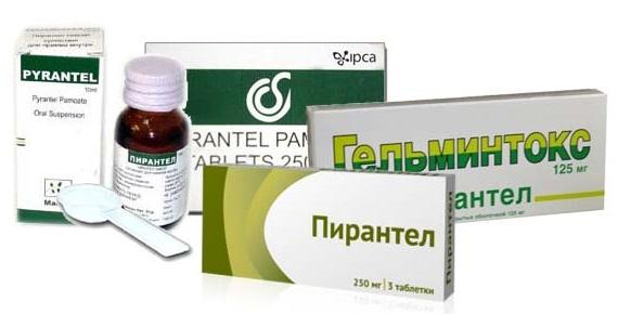 Препараты на основе пирантела