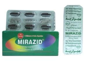 Миразид – египетский антигельминтный препарат